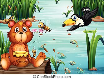 Bear and Pelican