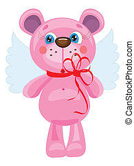 Bear angel ,vector