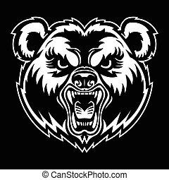 Bear Angry Face
