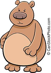 bear animal character - Cartoon Illustration of Bear or...