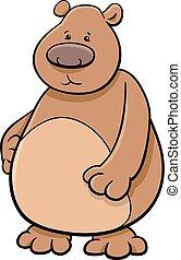 bear animal character - Cartoon Illustration of Bear or ...