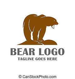 bear animal logo design