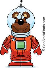 Bear Astronaut - A happy cartoon bear astronaut in a...