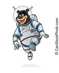 Bear Astronaut - bear astronauts was jumping like walking on...