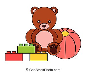 bear ball blocks kid toys