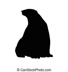 Bear black silhouette