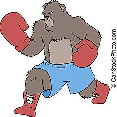 bear boxing draw