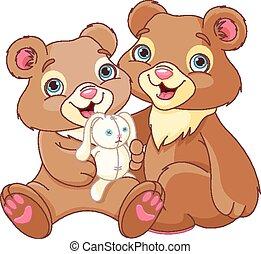 Bear brothers - Illustration of a bear family