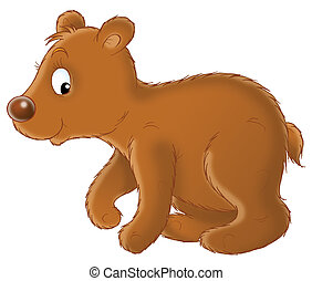 bear cub illustrations and clipart 5 611 bear cub royalty free rh canstockphoto com baby bear cub clipart free bear cub clipart
