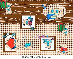 bear cartoon pattern