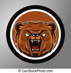 Bear Circle sticker