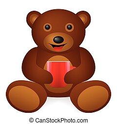 bear coffee cup.