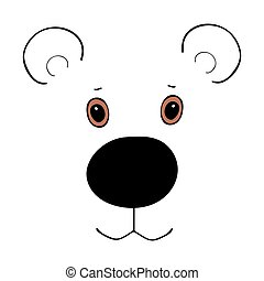 Bear cute funny cartoon head