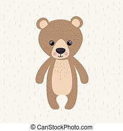 bear cute wildlife icon