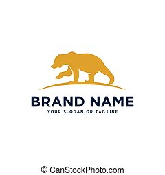 bear design logo vector template