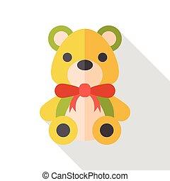 bear doll flat icon