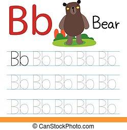 bear drawing line vector design
