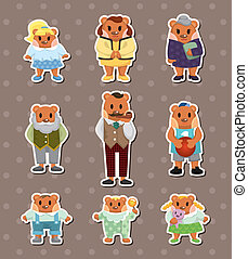 bear family stickers