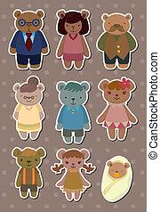 bear family stickers