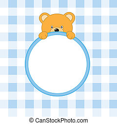 Bear frame blue