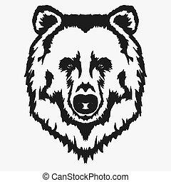 Bear head cartoon vector