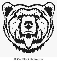 Bear head cartoon vector