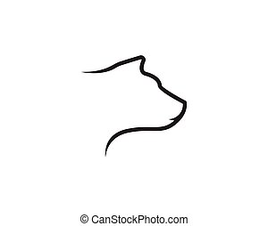 Bear head line vector illustration