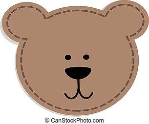 bear head patch