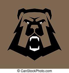 Bear head sports logo
