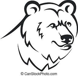 Bear head.