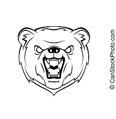 Bear Head Warrior vector illustrati