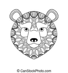 Bear icon. Animal and Ornamental predator design. Vector graphic