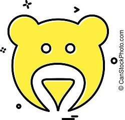 Bear icon design vector