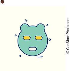 Bear icon design vector