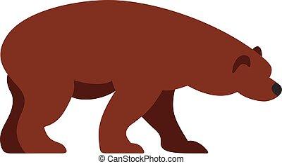 Bear icon, flat style