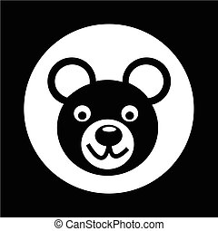 Bear Icon illustration design