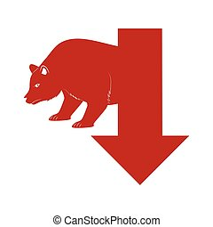 Bear icon. Profil design. Vector graphic