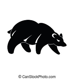 Bear icon, simple style