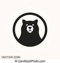 Bear icon. Vector concept illustration for design.
