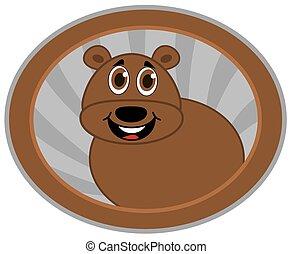 bear in a logo