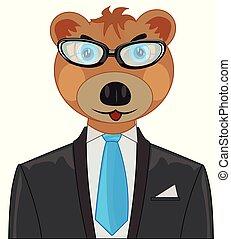 Bear in suit