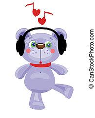 Bear in the headphones