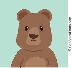 Bear Isolated Vector Illustration