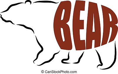 BEAR LETTERING ILLUSTRATION
