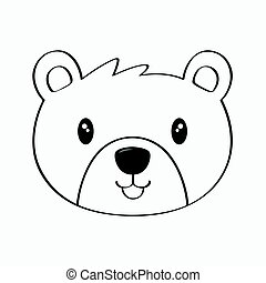 Bear Line Art Vector