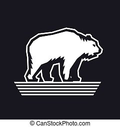 Bear logo design template, vector illustration