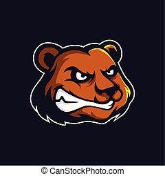 Bear logo mascot vector