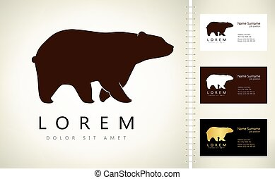 Bear logo vector. Animal illustration.