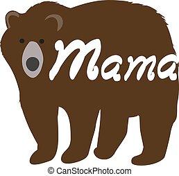 bear mama - vector mama bear