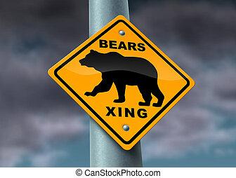 Bear Market Warning sign